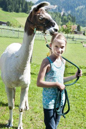 Schulreise «Lamas und Spuckgeschichten»
