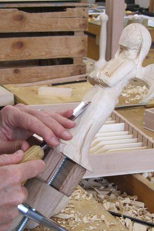 Kurs Bildhauen in der Holzwerkstatt